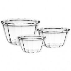 800ml glass bowl m lid sq