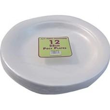 12 ROUND FOAM PLATES 23CM